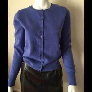 NWT Lord &Taylor periwinkle blue cashmere cardigan